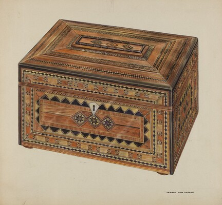 Inlaid Sewing Box