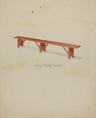 Shaker Long House Bench