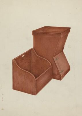 Shaker Wood Box and Kindling Box
