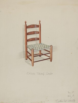 Shaker Three Slat Titlting Chair