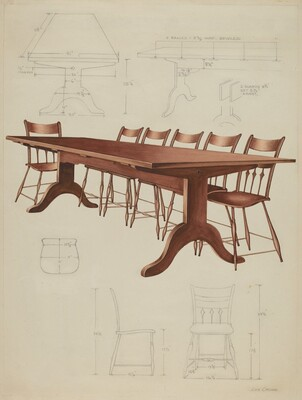 Shaker Dining Table and Chairs