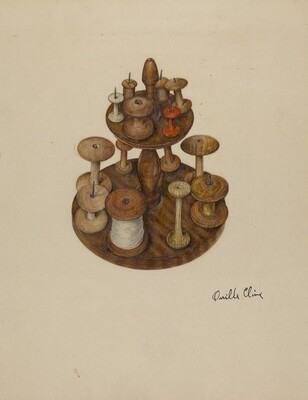 Shaker Spool Rack and Spools