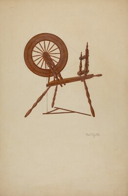 Shaker Spinning Wheel Flax