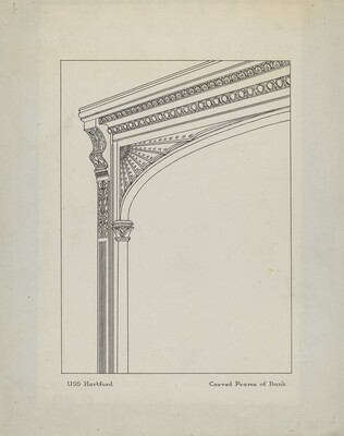 Carved Frame of Bunk