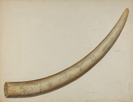 Scrimshaw: Walrus Tusk