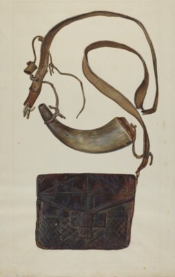 Bullet Pouch and Powder Horn