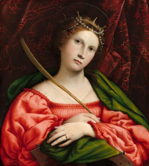 Lorenzo Lotto, Saint Catherine, 1522