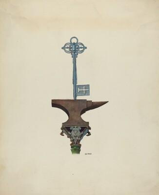 Decorative Ironwork & Locksmith Sign