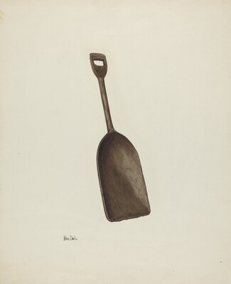 Wooden Grain Shovel