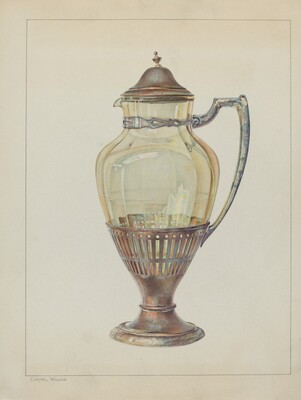 Silver and Glass Flagon