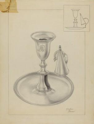 Silver Candlestick Holder