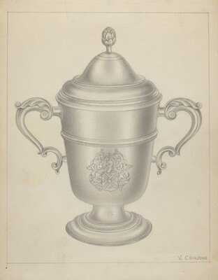 Silver Cup with Cover