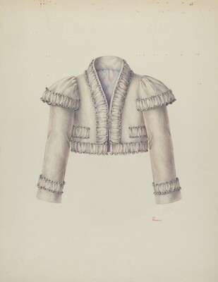 Embroidered Bolero Jacket