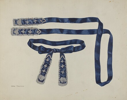 Man's Beaded Taffeta Necktie