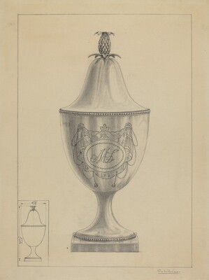 Silver Covered Sugar Urn