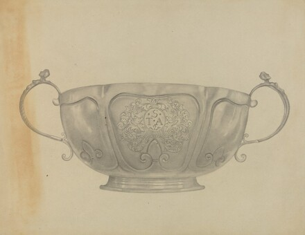 Two Handled Silver Bowl