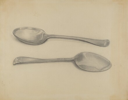 Two Silver Soup Spoons