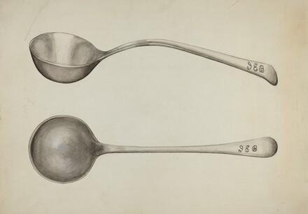 Silver Soup Ladle