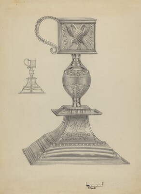 Silver Snuffer Stand