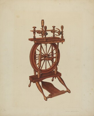 Wood Spinning Wheel