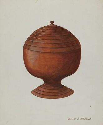Wood Sugar Bowl