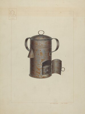 Tin Milk Warmer
