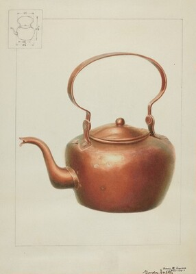 Copper Kettle with Spout