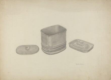 Pewter Tobacco Jar