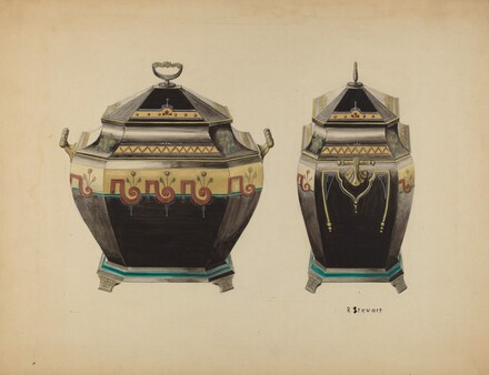 Toleware Coal Vase