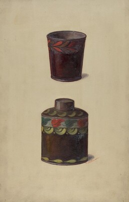 Toleware Tin Cannister
