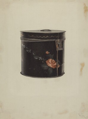 Toleware Tea Cannister