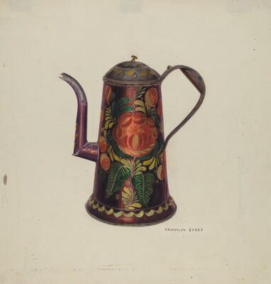 Toleware Tin Teapot