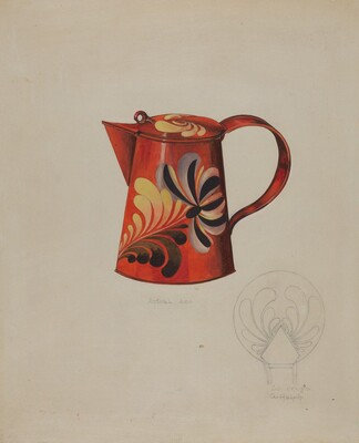 Toleware Syrup Pitcher