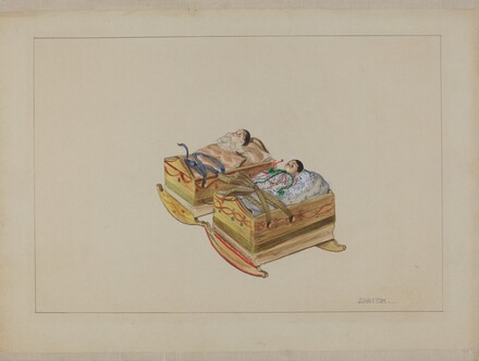 Two Cradles with Dolls