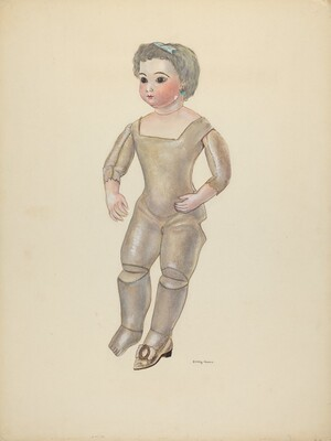 Doll with Bisque Head