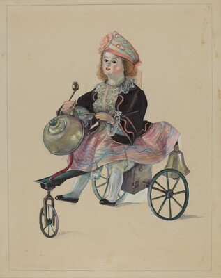 Doll on Velocipede