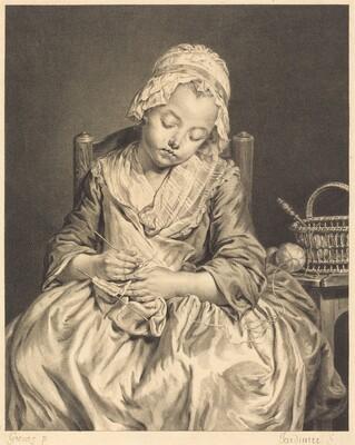 La tricoteuse endormie