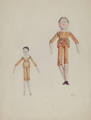 Jointed Wooden Dolls