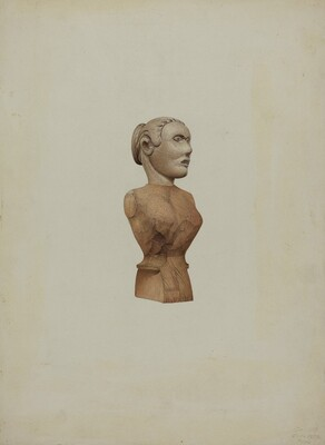 Carved Bust: Doll