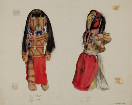Clay Indian Dolls