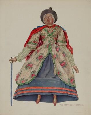 Mother Goose marionette