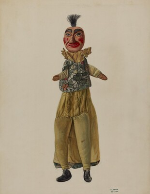 Punch Clown Puppet