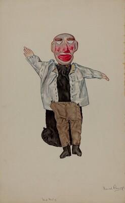 Blind Man Hand Puppet