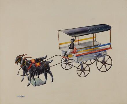 Toy Goat Cart