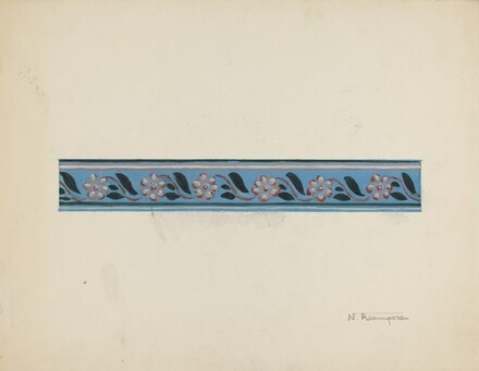 Wall Paper Border on Bandbox Lid