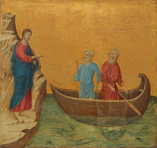 Duccio di Buoninsegna, The Calling of the Apostles Peter and Andrew, 1308-1311