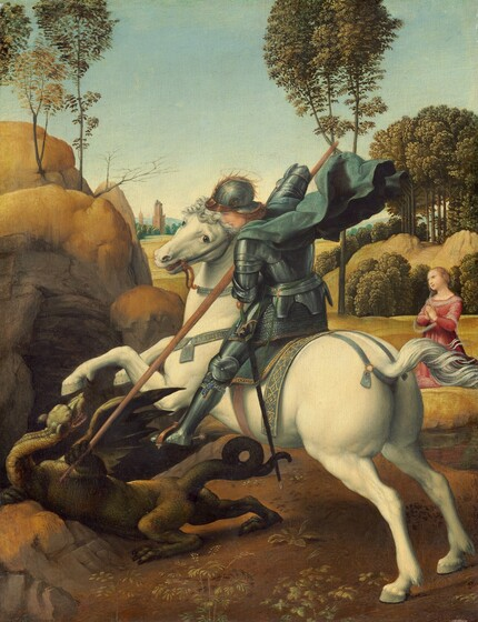 Raphael, Saint George and the Dragon, c. 1506