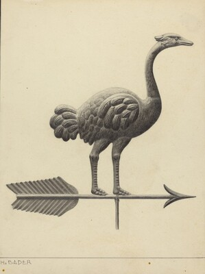 Ostrich Weather Vane