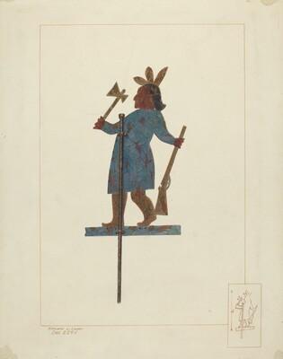 Indian Chief Weather Vane