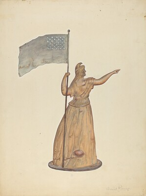 Weather Vane - Goddess of Liberty